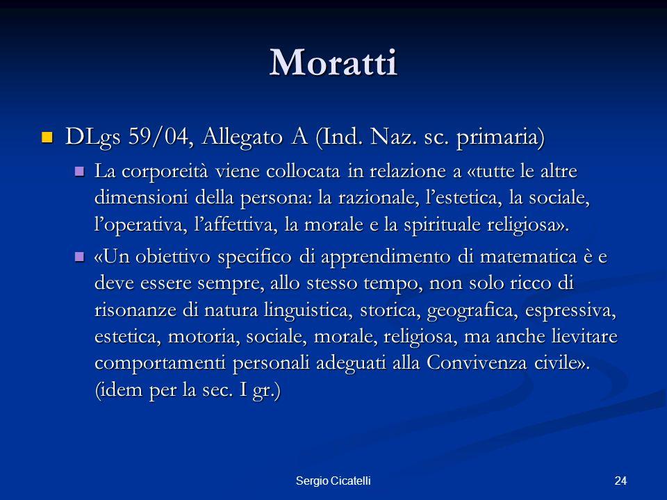 Moratti DLgs 59/04, Allegato A (Ind. Naz. sc. primaria)