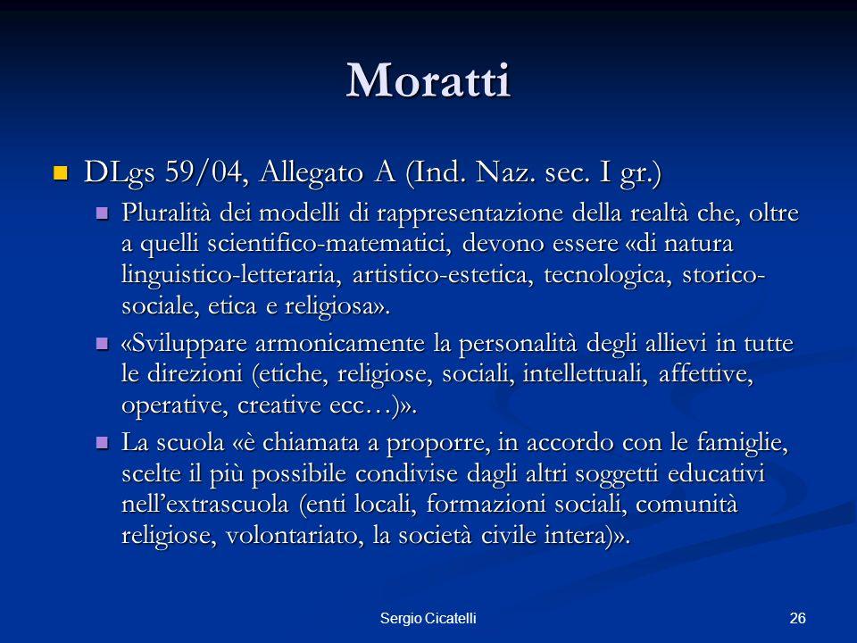 Moratti DLgs 59/04, Allegato A (Ind. Naz. sec. I gr.)
