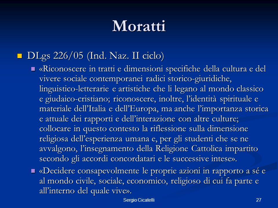 Moratti DLgs 226/05 (Ind. Naz. II ciclo)