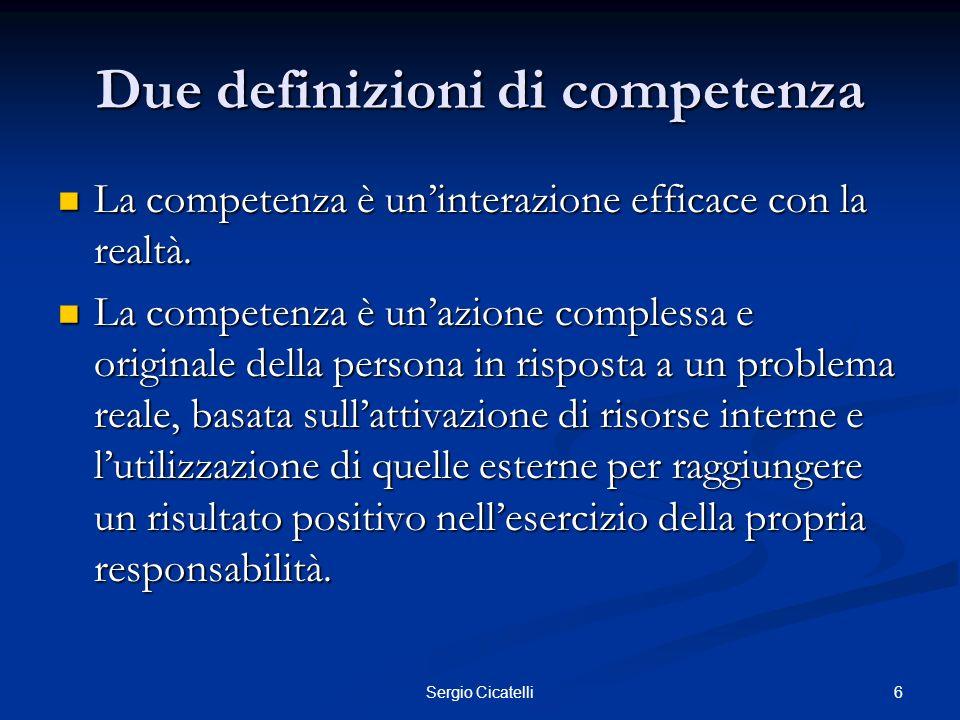 Due definizioni di competenza