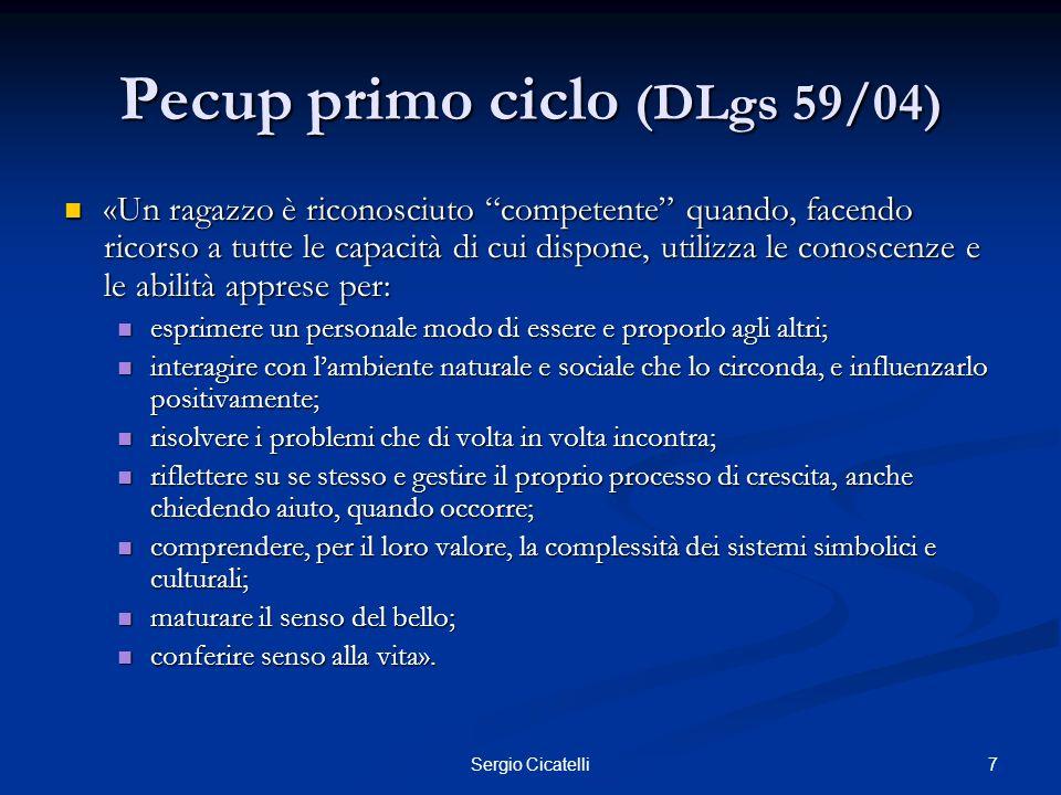 Pecup primo ciclo (DLgs 59/04)