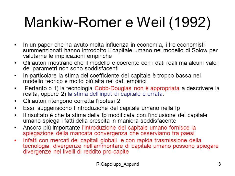 Mankiw-Romer e Weil (1992)