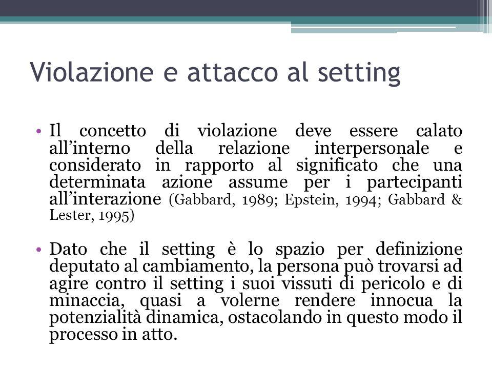 Violazione e attacco al setting
