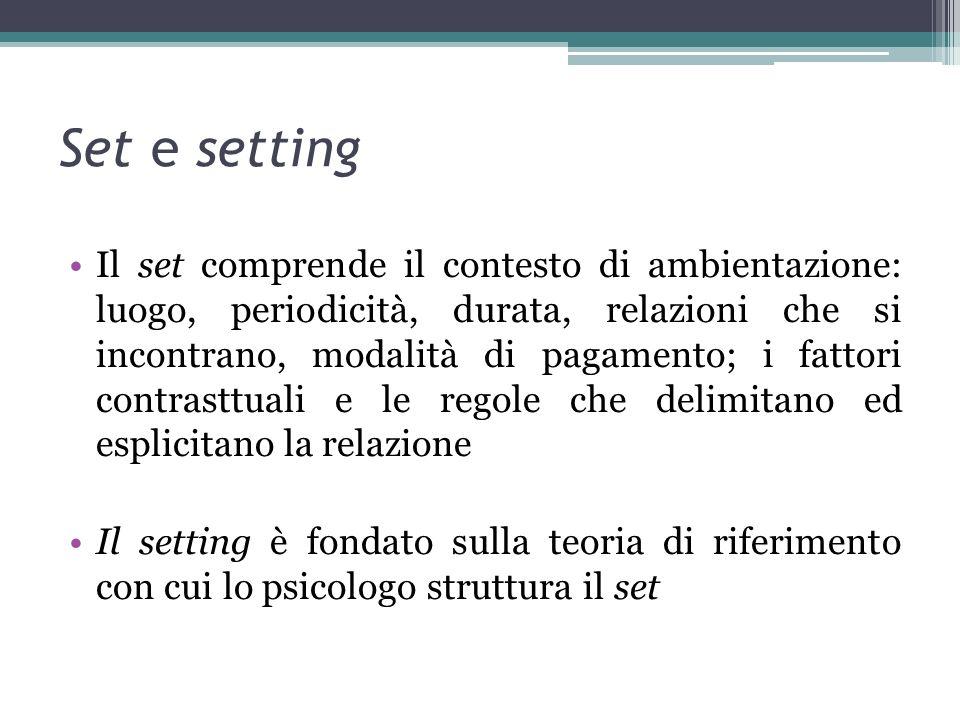 Set e setting