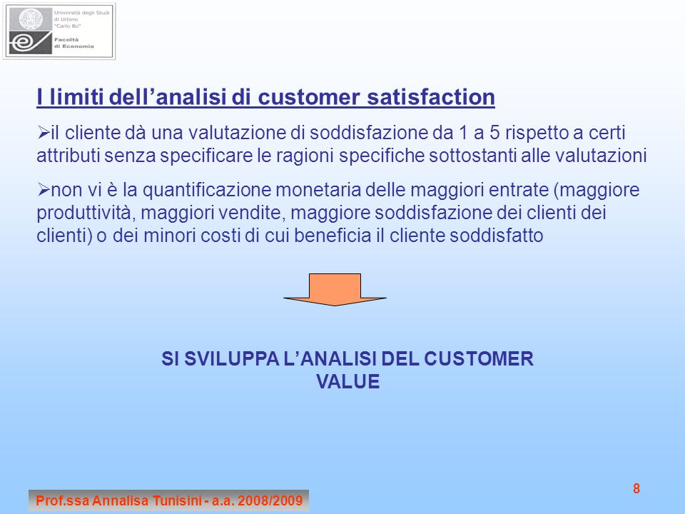 I limiti dell'analisi di customer satisfaction