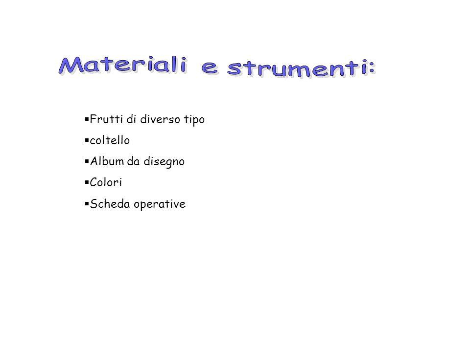 Materiali e strumenti: