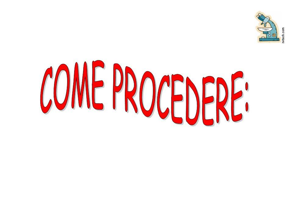 COME PROCEDERE: