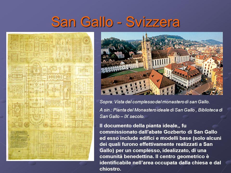 San Gallo - Svizzera Sopra: Vista del complesso del monastero di san Gallo.