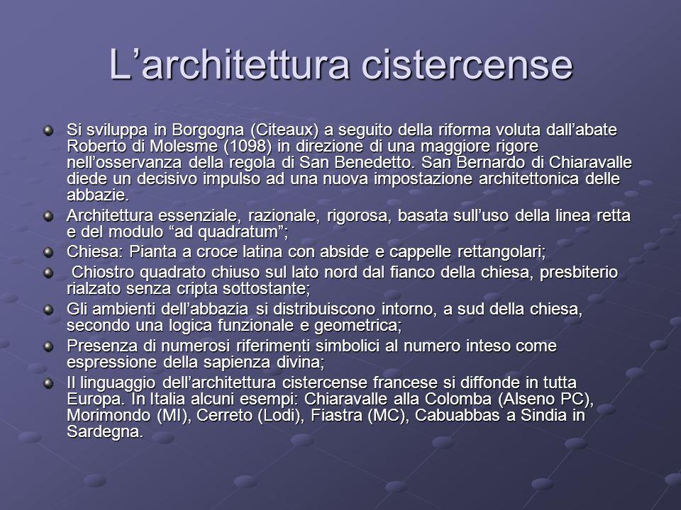 L'architettura cistercense