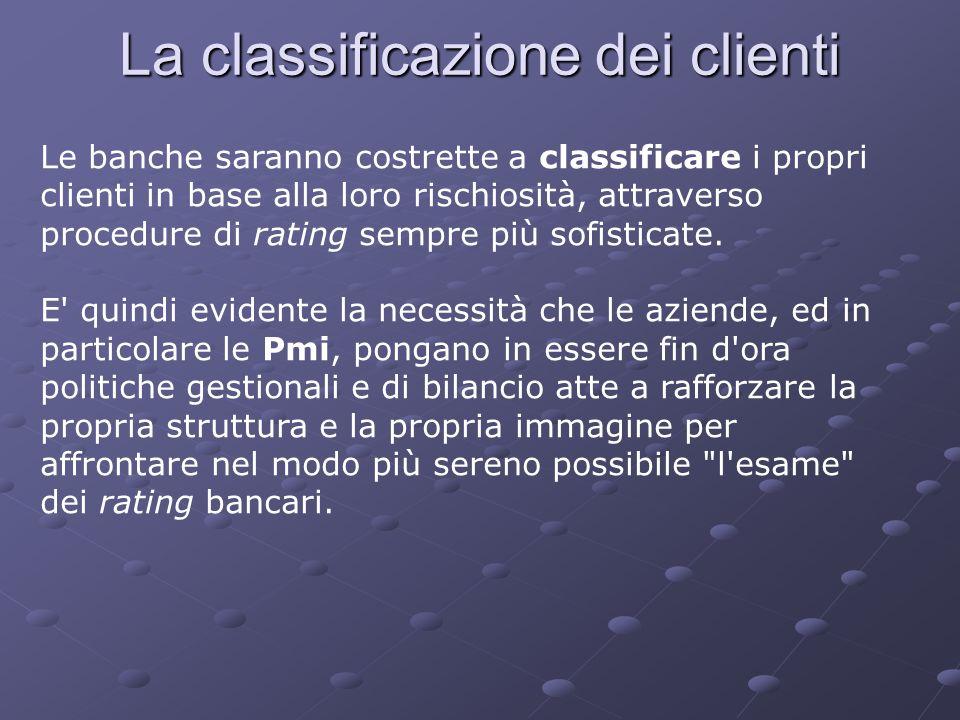 La classificazione dei clienti