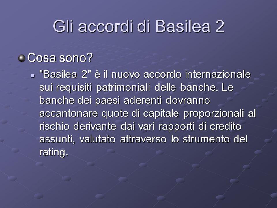 Gli accordi di Basilea 2 Cosa sono