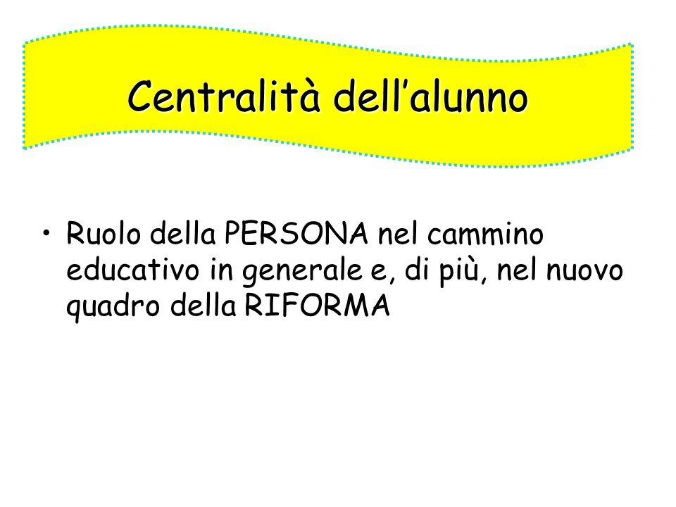 Centralità dell'alunno