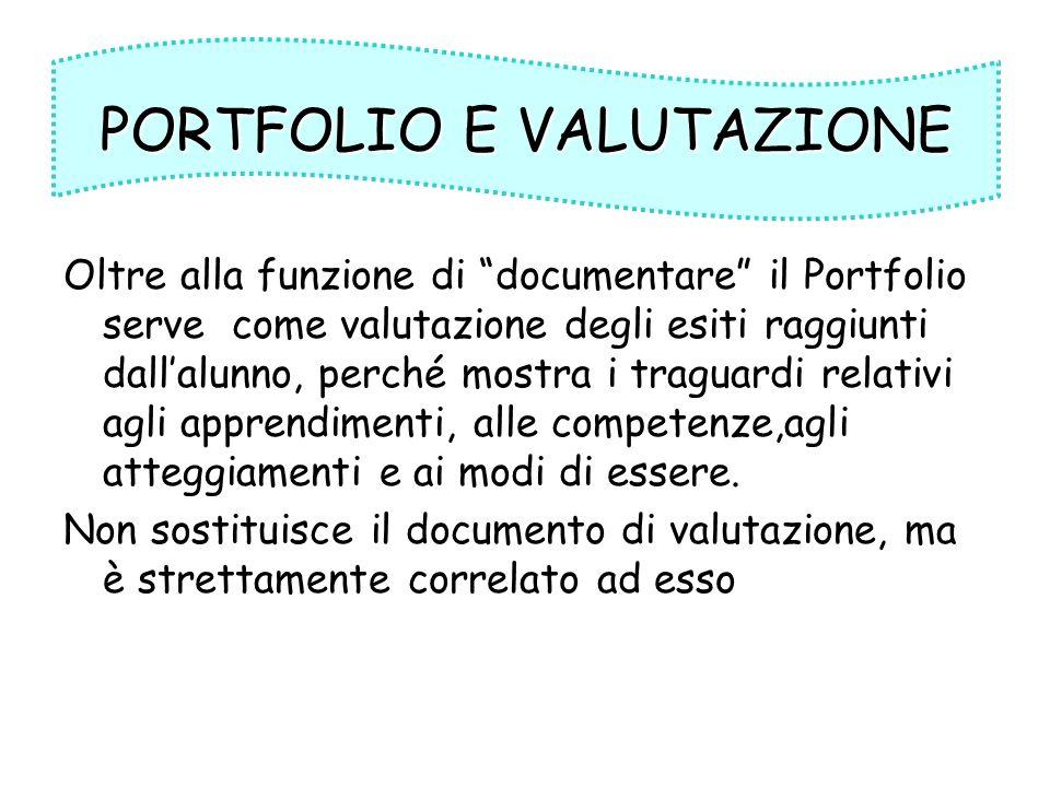 PORTFOLIO E VALUTAZIONE