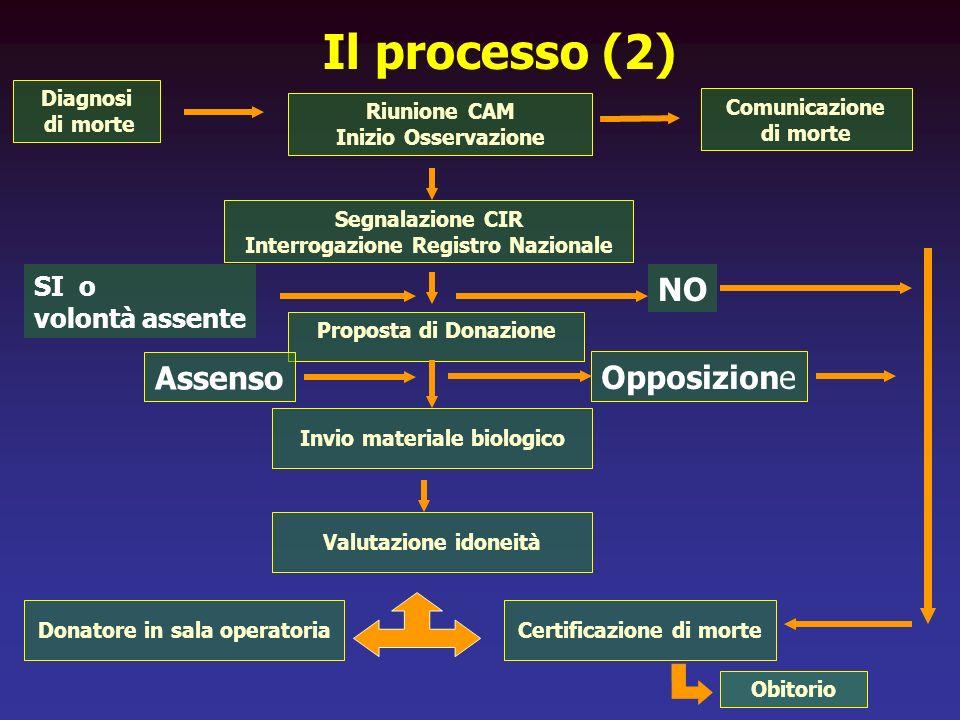 Il processo (2) NO Assenso Opposizione SI o volontà assente Diagnosi