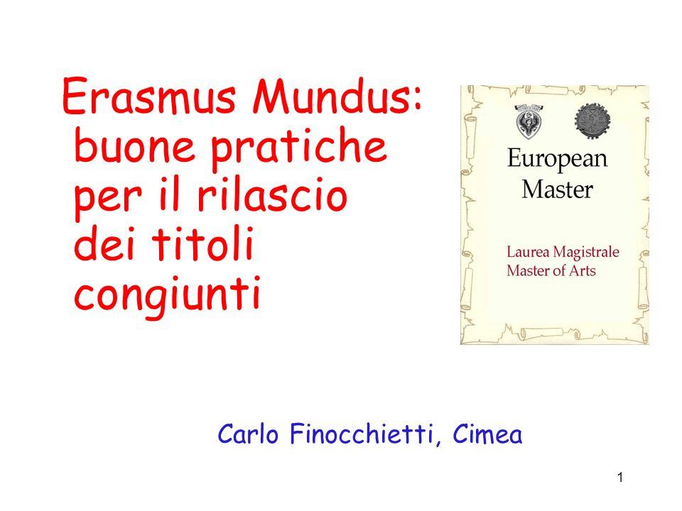 Erasmus Mundus: buone pratiche per il rilascio dei titoli congiunti