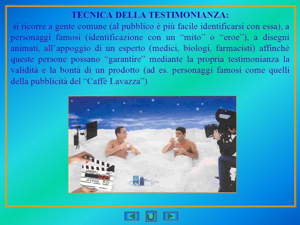 TECNICA DELLA TESTIMONIANZA: