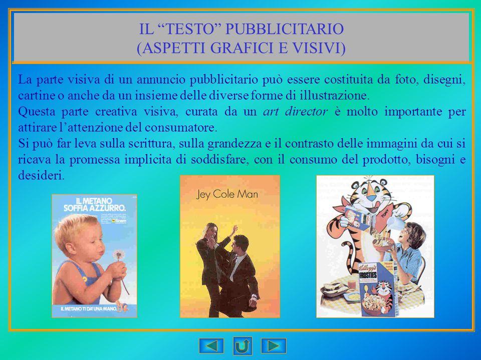 IL TESTO PUBBLICITARIO (ASPETTI GRAFICI E VISIVI)