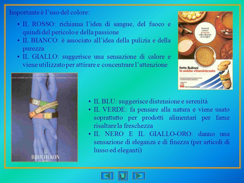 Importante è l'uso del colore: