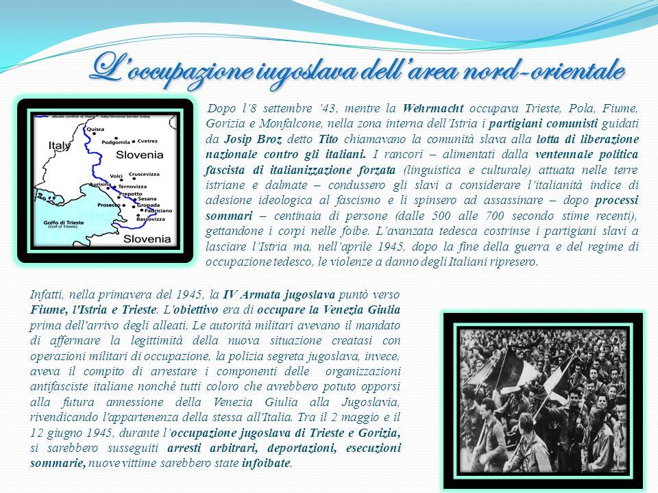 L'occupazione iugoslava dell'area nord-orientale