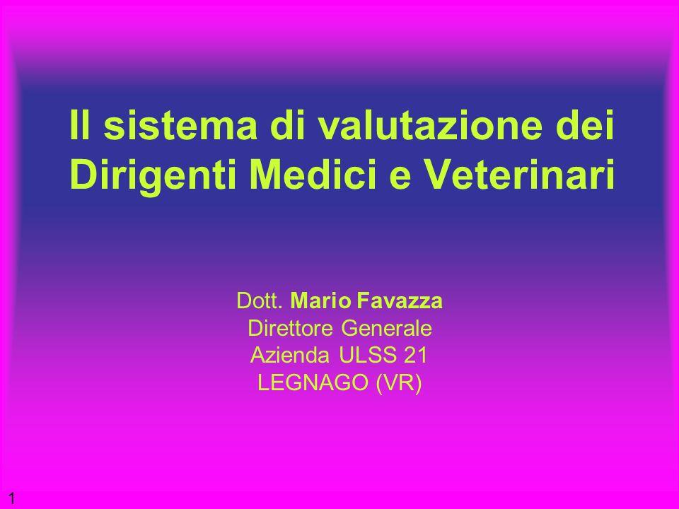 Il sistema di valutazione dei Dirigenti Medici e Veterinari