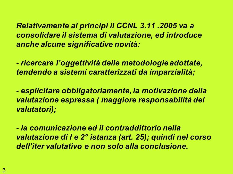 Relativamente ai principi il CCNL 3. 11