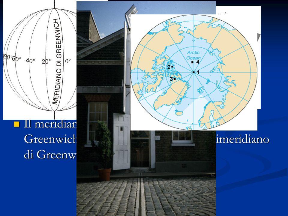I meridiani sono circonferenze ottenute immaginando di tagliare la terra con gli infiniti piani che passano per l asse terrestre