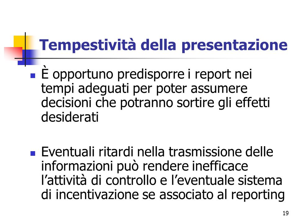 Tempestività della presentazione