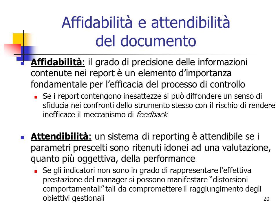Affidabilità e attendibilità del documento