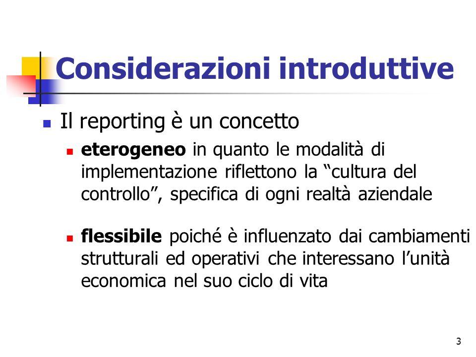 Considerazioni introduttive