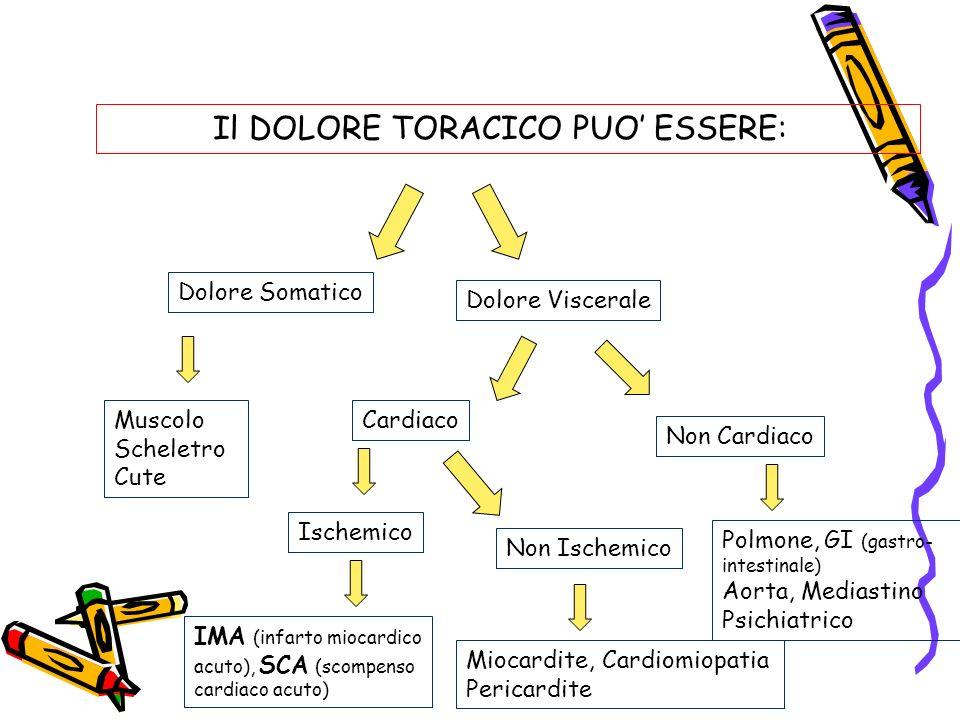 Il DOLORE TORACICO PUO' ESSERE: