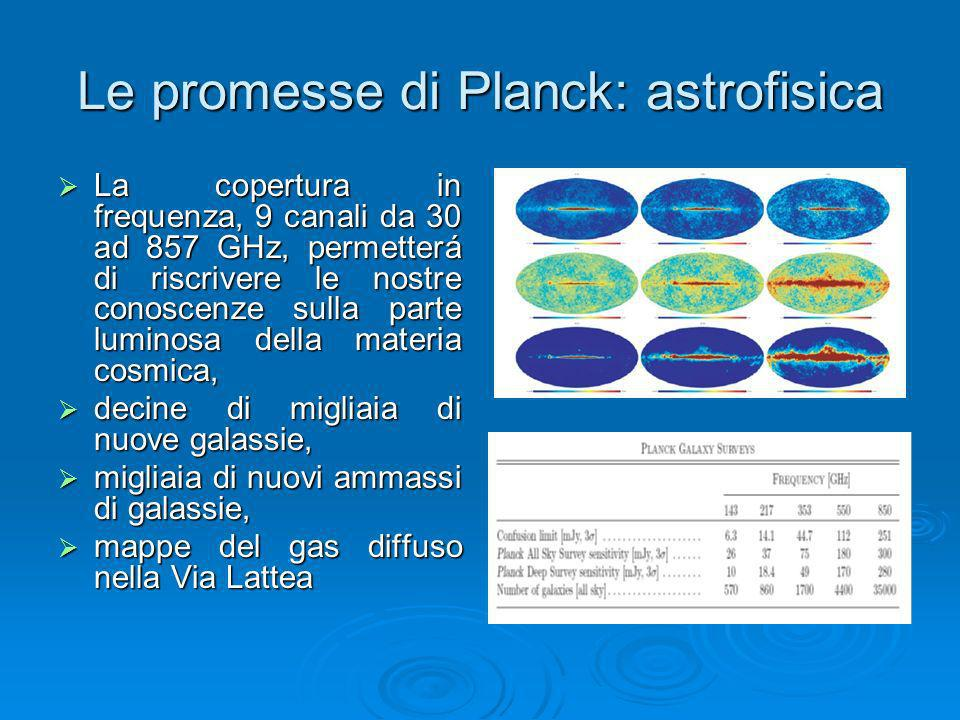Le promesse di Planck: astrofisica