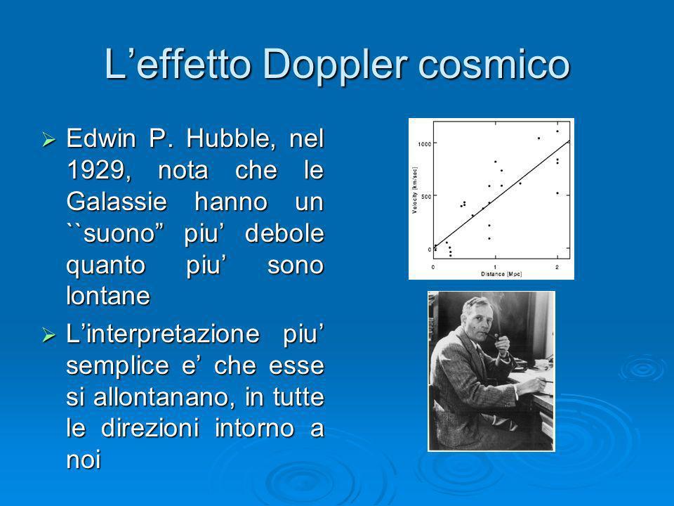 L'effetto Doppler cosmico