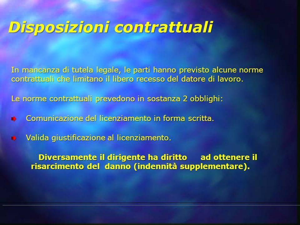Disposizioni contrattuali