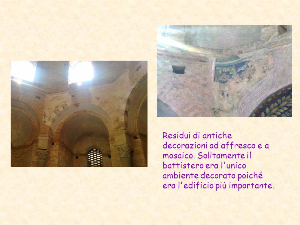 Residui di antiche decorazioni ad affresco e a mosaico