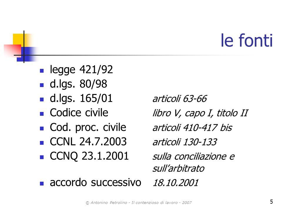 © Antonino Petrolino - Il contenzioso di lavoro - 2007