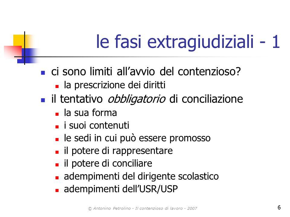 le fasi extragiudiziali - 1
