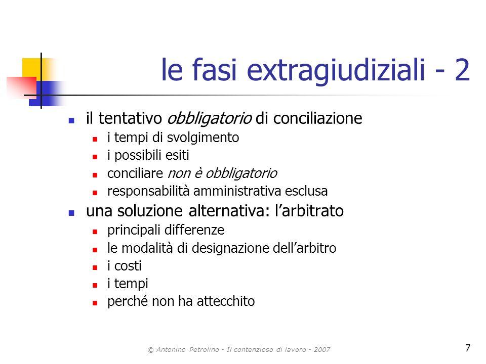 le fasi extragiudiziali - 2
