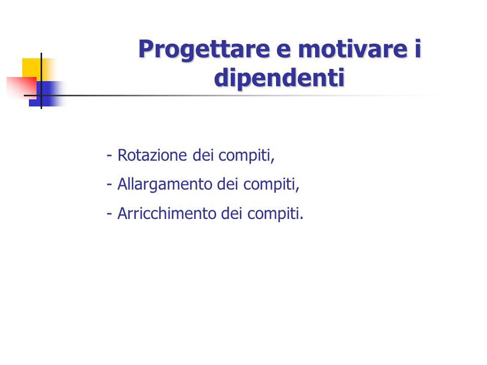 Progettare e motivare i dipendenti