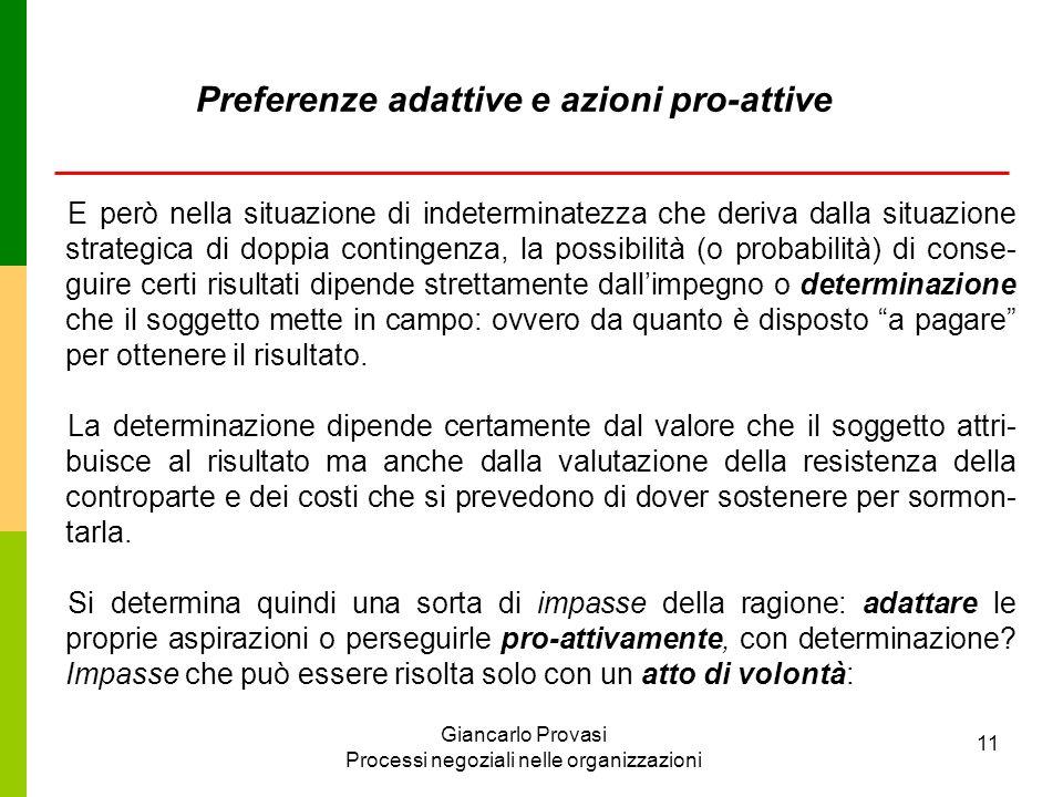 Preferenze adattive e azioni pro-attive