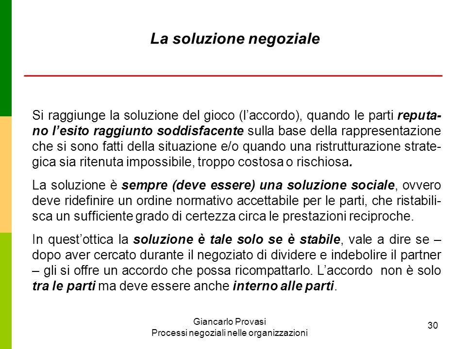 La soluzione negoziale