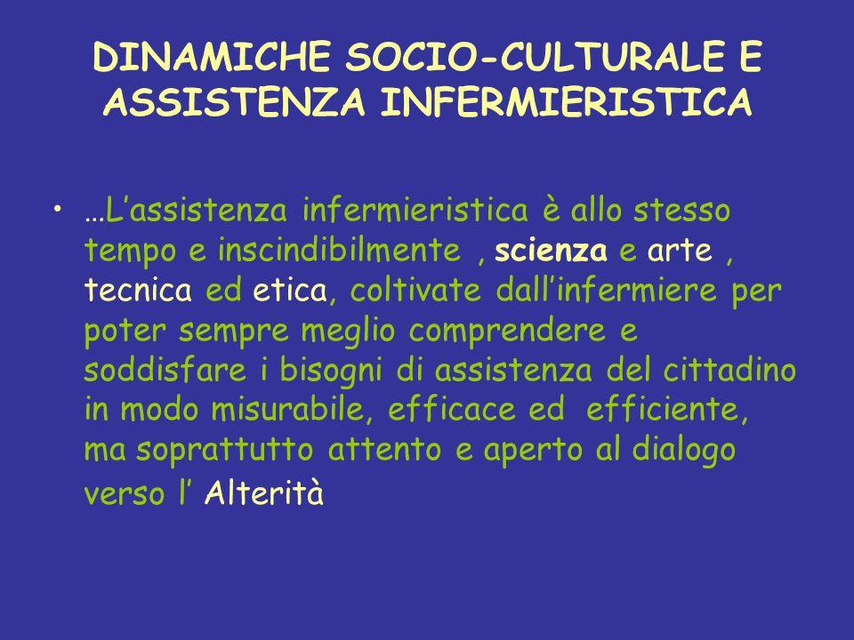DINAMICHE SOCIO-CULTURALE E ASSISTENZA INFERMIERISTICA
