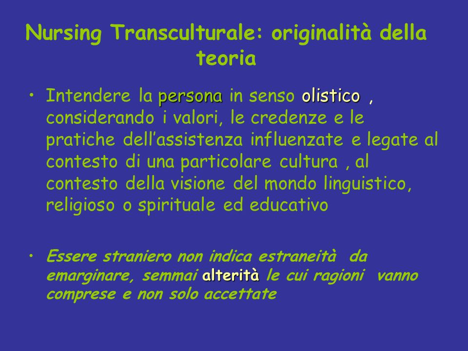 Nursing Transculturale: originalità della teoria