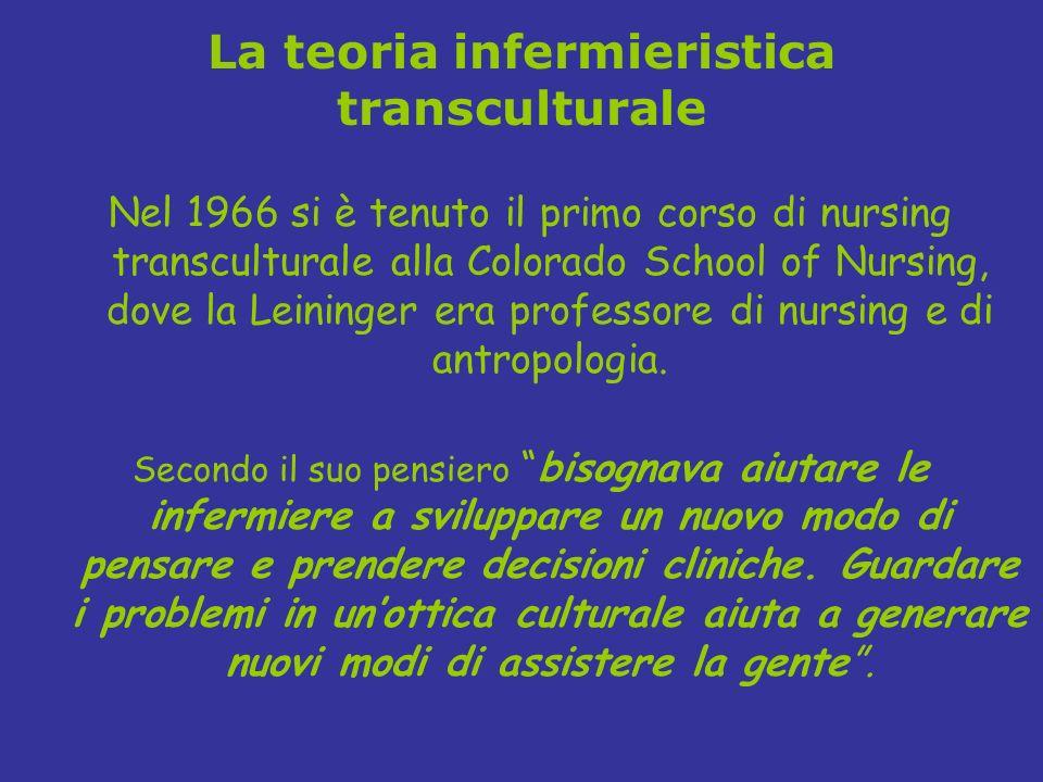 La teoria infermieristica transculturale