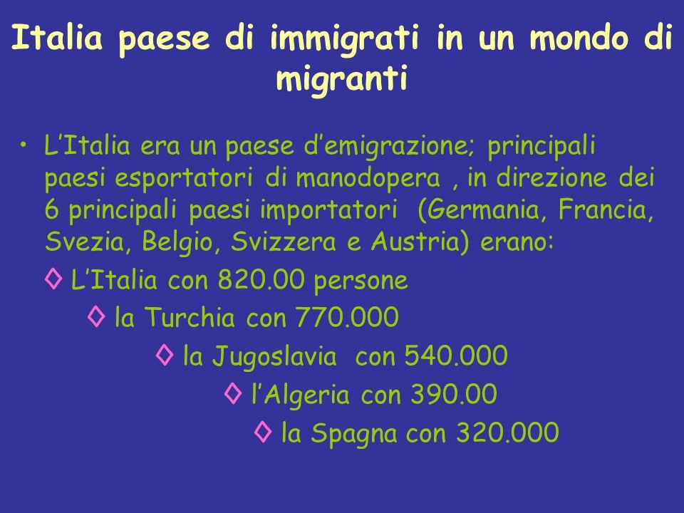 Italia paese di immigrati in un mondo di migranti