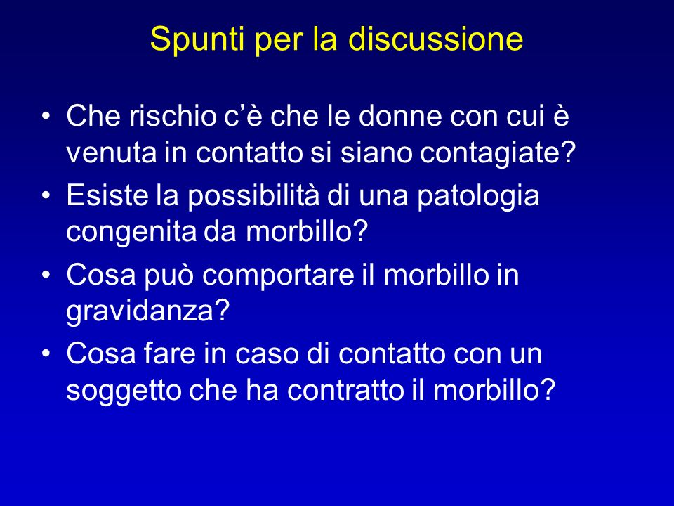 Spunti per la discussione