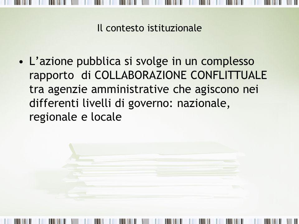 Il contesto istituzionale