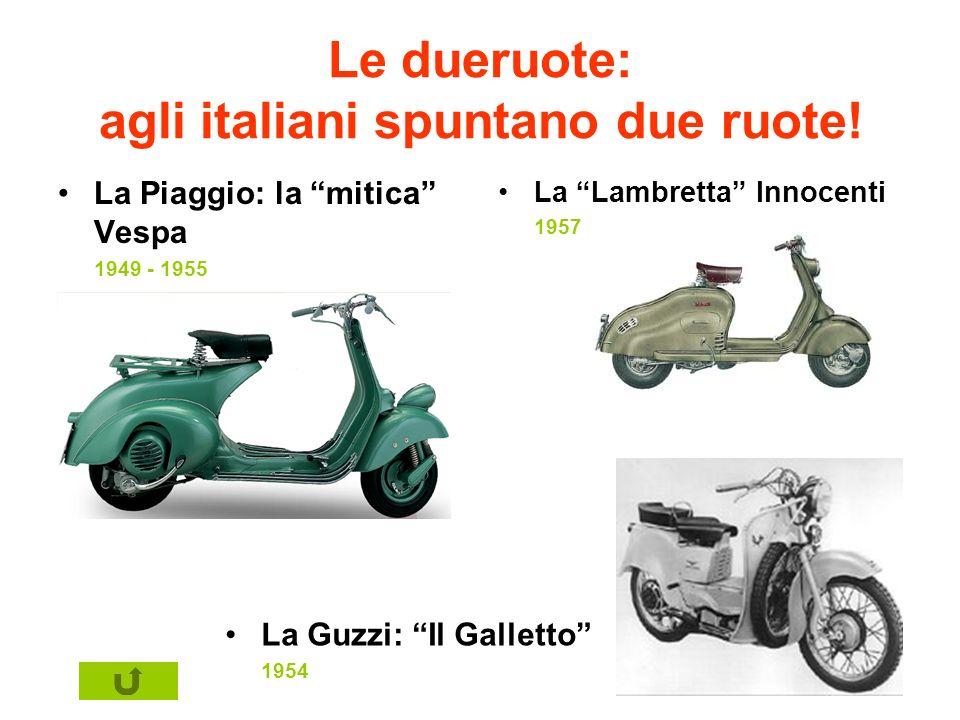 Le dueruote: agli italiani spuntano due ruote!