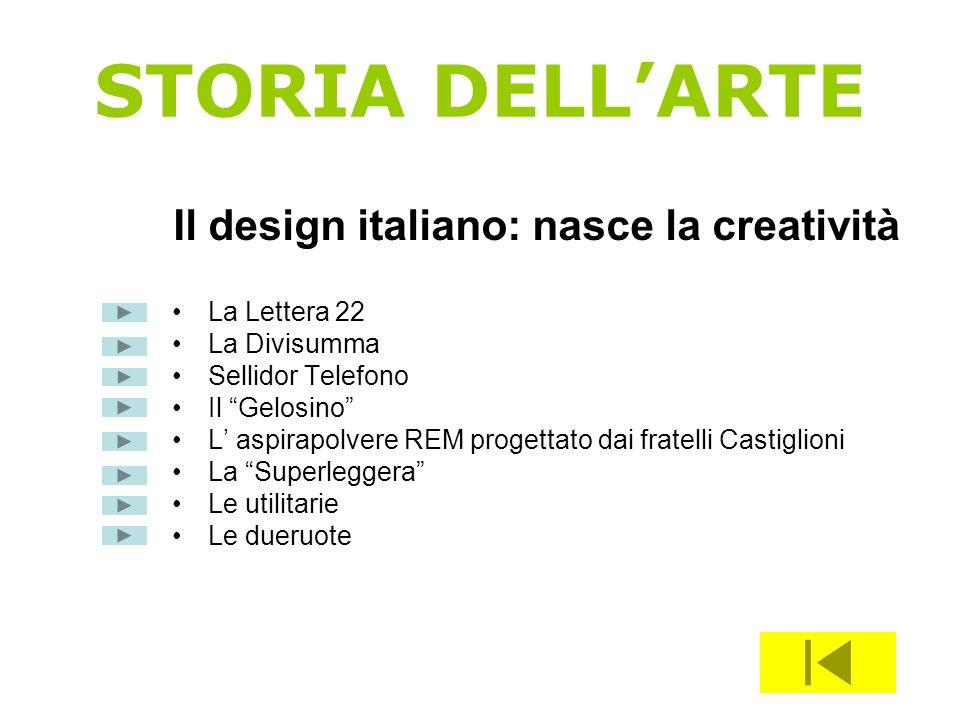 Il design italiano: nasce la creatività
