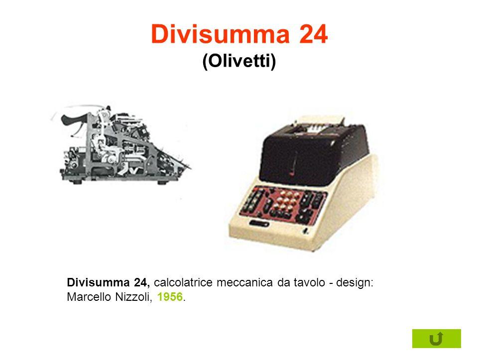 Divisumma 24 (Olivetti)Divisumma 24, calcolatrice meccanica da tavolo - design: Marcello Nizzoli, 1956.
