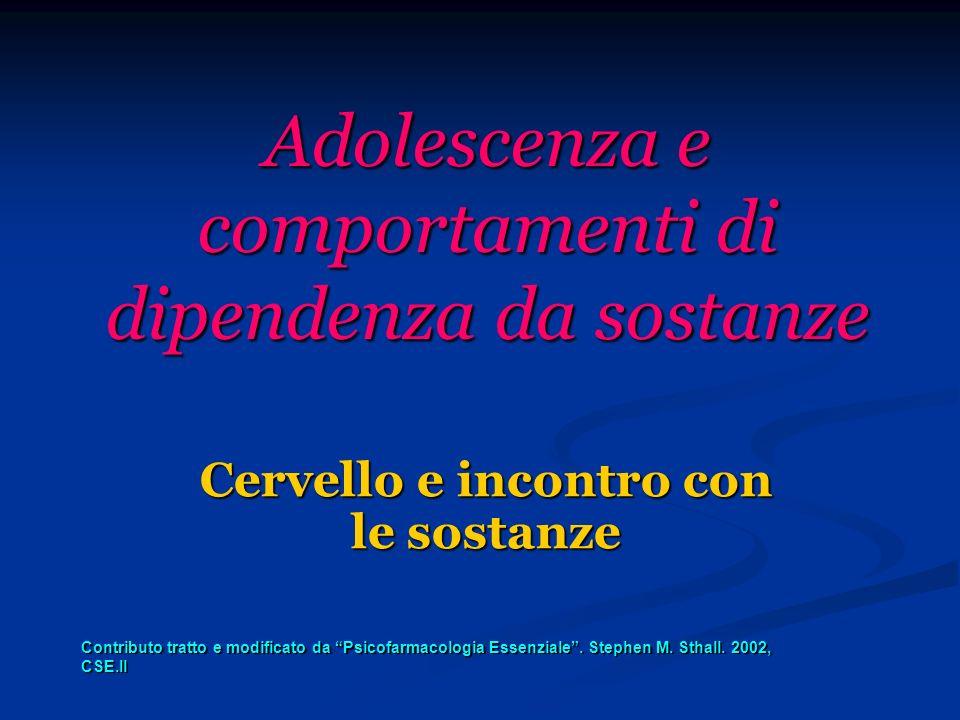 Adolescenza e comportamenti di dipendenza da sostanze